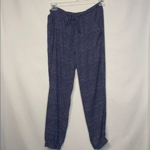 Cabi Blue Slouchy Dotted Joggers Size Small